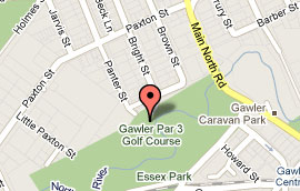 Map of Gawler Par 3 Golf