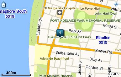 Map of Glanville Hall Par 3 Golf Course