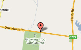 Map of Growling Frog Golf Course