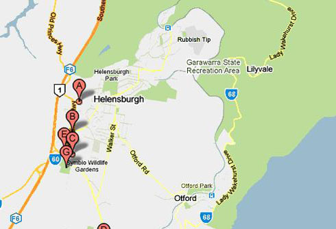 Map of Helensburgh Golf Driving Range