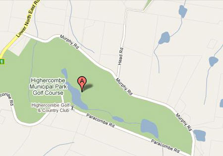 Map of Highercombe Golf & Country Club Adelaide