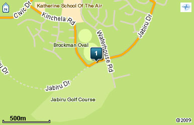 Map of Jabiru Golf Club Inc in Northern Territory