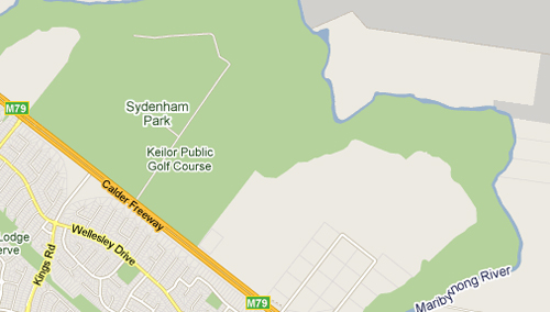 Map of Keilor Driving Ranges