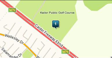 Map of Keilor Public Golf Course