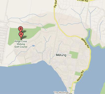 Map of Kings Cove Golf Club Metung