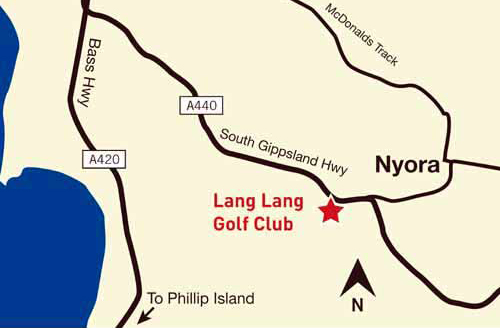 Map of Lang Lang Gold Club