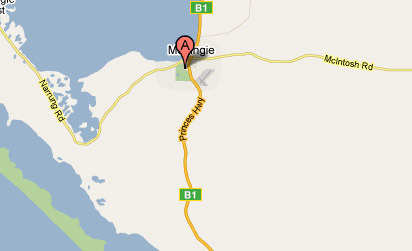 Map of Meningie Lake Albert Golf Club