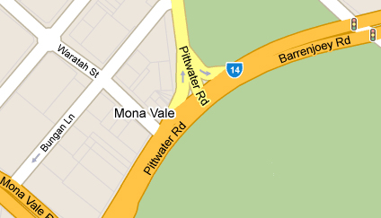 Map of Mona Vale Golf Club