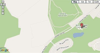 Map of Murrumbidgee Country Club