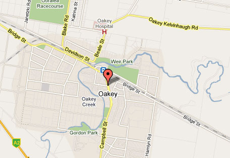 Map of Oakey Golf Club