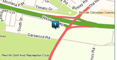 Map of Penrith Golf & Recreation Club