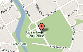 Map of Queanbeyan Golf Club