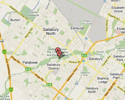 Map of Salisbury Green Par 3 Driving Range