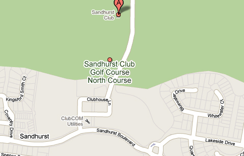 Map of Sandhurst Golf Club