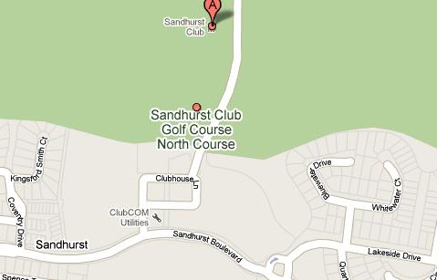 Map of Sandhurst Golf Club