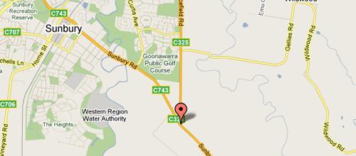 Map of Sunbury Golf Driving Range