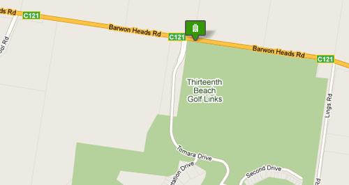 Map of Thirteenth Beach Golf links