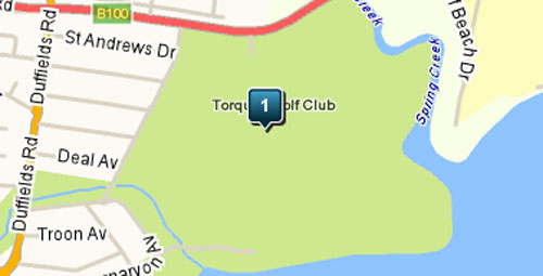 Map of Torquay Golf Club