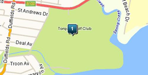 Map of Torquay Golf Club