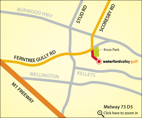 Map of Waterford Valley Golf Course