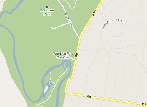 Map of Werribee Park Golf Club