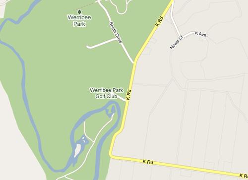 Map of Werribee Park Golf Club