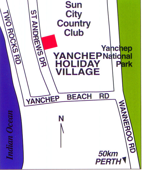 Map of Yanchep Holiday Village