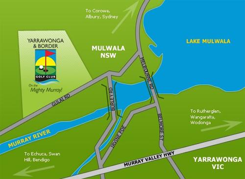 Map of Yarrawonga & Border Golf Club